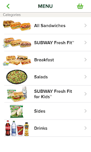 screenshot of SUBWAY® version 6.10.3.5000267