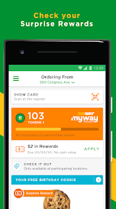screenshot of SUBWAY® version 8.2.0.0