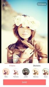 screenshot of Selfie Camera - Filter & Sticker & Photo Editor version 1.3.5