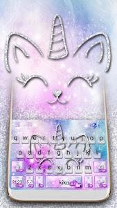 Download Silver Unicorn Cat Keyboard 6.0 APK