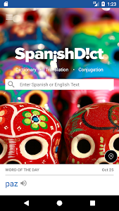 screenshot of SpanishDict Translator version 2.1.26