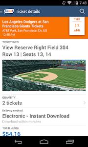 screenshot of StubHub - Event tickets version 2.68