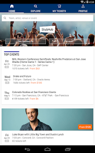 screenshot of StubHub - Event tickets version 3.1.0