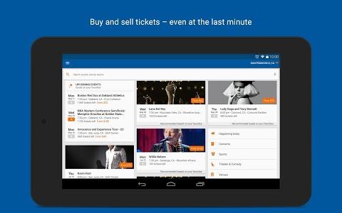 screenshot of StubHub - Event tickets version 2.94