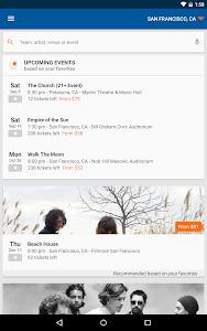 screenshot of StubHub - Event tickets version 2.89