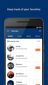 screenshot of StubHub - Event tickets version 3.0.0