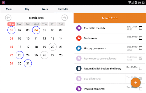 screenshot of Student Agenda version 2.5.18