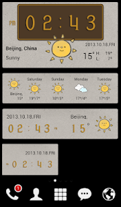 screenshot of Style widget (weather/time) version 1.2.908