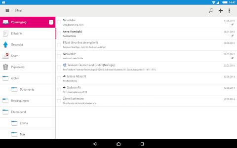 screenshot of Telekom Mail version 1.6.3