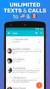 screenshot of TextMe Up Free Calling & Texts version 3.15.5