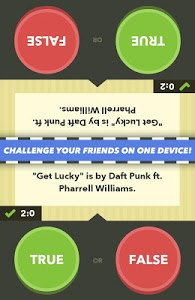 screenshot of True or False - Test Your Wits version 2.4