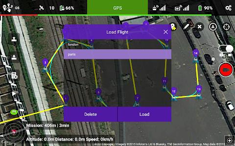screenshot of Litchi for DJI Phantom/Inspire version 3.0.4