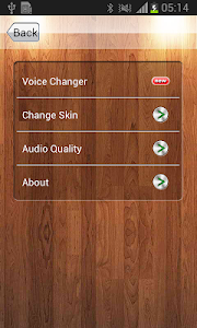 screenshot of Voice Recorder version 1.4.01