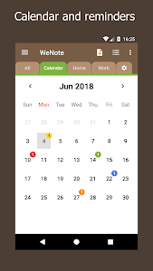 screenshot of WeNote - Notes, To-do lists, Reminders & Calendar version 0.39