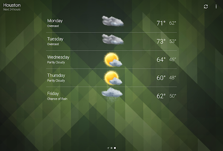 screenshot of Weather version Varies with device
