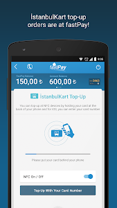 screenshot of fastPay version 7.3.2