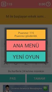 screenshot of İsim Şehir Hayvan version 2.0