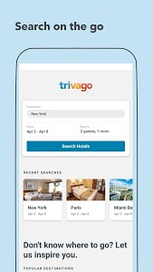 screenshot of trivago: Hotels & Travel version Varies with device